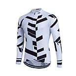 Esportivo Camisa para Ciclismo Homens Manga Comprida Moto Mantenha Quente / A Prova de Vento Blusas Tosão Clássico Inverno Ciclismo/Moto