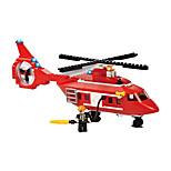 Byggeklosser for Gift Byggeklosser Modell- og byggeleke Bil / Helikopter Plast over 6 Sølv / Ivory Leketøy