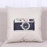 Hot Fresh Literary Style Fashion Cushion Retro Camera Vintage Bicycle Pattern Thick Cotton Pillow Cover