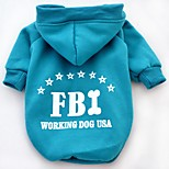 Stylish FBI Pattern Cotton T-Shirt with Hoodie for Pets Dogs (Assorted Colours and Sizes)