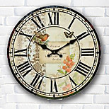 1PC  Wall Clock  Sitting Room European Style Pastoral Clock  Arts Bracket Clock Modern Mute  Clock (Pattern is Random)
