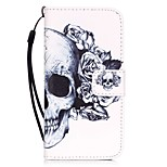Body collant Support de Carte / Motif Crâne Cuir PU Dur Couverture de cas pour AppleiPhone 7 Plus / iPhone 7 / iPhone 6s Plus/6 Plus /