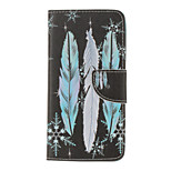 PU Leather Feather Pattern Wallet Case with Card Slots for iPhone 7 Plus 7 6s Plus 6 Plus 6S 6 SE 5s 5