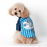 Navy Style Stripe cool lovely Design Boats Pattern T-Shirt  for Pets Dogs(Assorted Sizes and Colours)