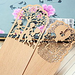 F816 Korea Stationery Retro Wooden Bookmark Gifts Hollow Thin Antiquity Book Holder