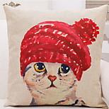 Mediterranean-Style Home Sofa Car Cushion Lumbar Pillow By Kitty Cotton Pillowcase