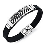 Men's Fashion Jewelry Titanium Steel Silicone Bangles Cuff Bracelets Casual/Daily Gift Accessories