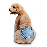 Katzen / Hunde Kostüme / Hosen Rot / Blau / Rosa Hundekleidung Winter / Sommer / Frühling/Herbst SchleifeCowboy / Modisch /