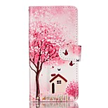 Full Body Card Holder / Wallet / Flip / Pattern Tree PU Leather Hard Case Cover For Lenovo Lenovo A6000