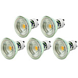 5W GU10 Focos LED MR16 1 COB 500LM lm Blanco Cálido / Blanco Fresco Regulable AC 100-240 / AC 110-130 V 5 piezas
