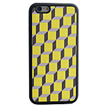 Cube Geometric Pattern Silk Material Pattern TPU Phone Case For iPhone 6s 6 Plus