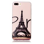 Para Funda iPhone 7 / Funda iPhone 7 Plus / Funda iPhone 6 Fosforescente / Diseños Funda Cubierta Trasera Funda Torre Eiffel Suave TPU