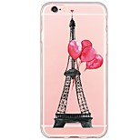 For iPhone 7 Eiffel Tower Pattern TPU Ultra-thin Ranslucent Soft Back Cover for iPhone 6s 6 Plus SE 5s 5