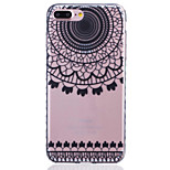 Painted Semicircle Pattern Slip Transparent TPU Material Phone Case for  iPhone 7 7 Plus 6s 6 Plus SE 5s 5 5C