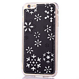 Snowflake Pattern with Diamond Embossed Pattern PU Leather Material TPU Phone Case  for iPhone  6S 6 Plus