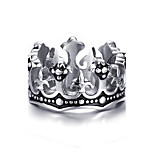 Men's Band Rings Stainless Steel High Polished Punk Style Casual Daily Party Hallowmas(1Pc)