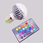 Remote Control Bulb / RGB Colorful 16 Color 3W Bulb Lamp