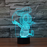 Donald Duck Touch Dimming 3D LED Night Light 7Colorful Decoration Atmosphere Lamp Novelty Lighting Christmas Light