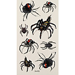 1pc Halloween Horror Waterproof Tattoo Spider Small Temporary Tattoo Sticker 10.5*6cm