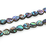 Beadia 12x12mm Heart Natural Abalone Sea Shell Beads (38cm/approx 33pcs)