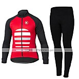 KEIYUEM® Cycling Jersey with Tights Unisex Long Sleeve BikeBreathable / Quick Dry / Dust Proof / Wearable / Compression / 3D Pad / Back