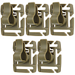 FURA Outdoor 360 Degree 8-Stage Rotating Base POM Water Pipe Clamps for Molle Backpacks - Khaki / Black / Green (5 PCS)