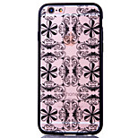 Flower Pattern Embossed Printing Transparent Hollow Acrylic Material TPU Phone Case for iPhone  6S 6plus SE 5S