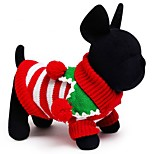 Festival Stripe Sweater Christmas Dog Clothes/Sweater for Pets  Dog Dogs Clothing (Assorted Sizes)