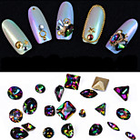 10PCS Difformity Luxurious Color Intrigue Jewel Nail Art Decorations