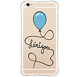 Para Funda iPhone 6 / Funda iPhone 6 Plus Antigolpes / Antipolvo / Diseños Funda Cubierta Trasera Funda Globo Suave TPU AppleiPhone 6s