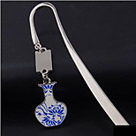 Spot Chinese Style Blue And White Classical Metal Bookmark Pendant Can Add Custom Logo