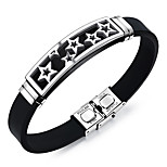 Men's Fashion Jewelry Rock Style Steel Vintage Silicone Bangles Cuff Bracelets Casual/Daily Gift Accessories