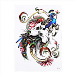 1pc Waterproof Temporary Tattoo Sticker Peacock Skull Sheep Angle Decal Women Men Body Art Tattoo Paper HB-304
