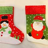 New Year 2016 Christmas Stockings Socks Santa Claus Candy Gift Bag Xmas Tree Decorations