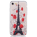 TPU Material Eiffel Tower Pattern Painted Relief Phone Case for iPhone 7 Plus/7/6s Plus / 6 Plus/6S/6/SE / 5s / 5