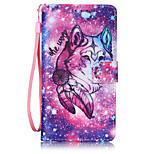 Lone Wolf PU Leather Lanyard phone Case For HuaWei P9 lite