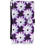Purple chrysanthemum Pattern PU Leather Lanyard phone Case For HuaWei P9 lite