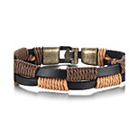 Men's Wrap Bracelet High-Quality Alloy Material Genuine Leather Material Casual Party Daily(1Pc)(Brown)