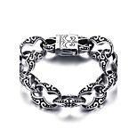 Men's Chain Bracelet Stainless Steel High Polished Punk Style Casual Daily Party Halloween(1Pc)