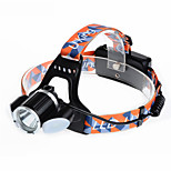 U`King® Headlamps Headlamp Straps LED 6000LM Lumens 4 Mode Cree XM-L T6 18650 Rechargeable Compact SizeCamping/Hiking/Caving Cycling/Bike