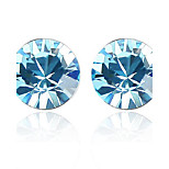 Thousands of colors Earring CircleJewelry 1 pair Fashionable Platinum Plated Silver Daily