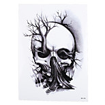 1pc Sexy Product Temporary Tattoo Sticker for Women Men Skull Tree Picture Design Waterproof Body Art Decal HB-335