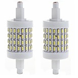 5 R7S Bombillas LED de Mazorca Luces Empotradas 72 SMD 4014 450-500 lm Blanco Cálido / Blanco Fresco Decorativa AC 85-265 V 2 piezas