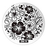 Nail Art Plate Stamp Stamping Set Round Stainless Steel