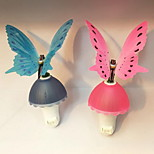 Colorful Butterfly Night Light Novelty Light Control Induction Plug Butterfly Phototherapy Lamp