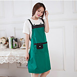 Single Color  Apron To Prevent The Kitchen Greasy Dirt Random Colour
