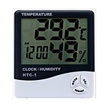 Indoor and Outdoor Temperature Hygrometer Electronic Digital Thermometer Electronic Clock Hygrometer