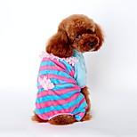 Katzen / Hunde Kostüme / Mäntel / Hosen / Overall / Pyjamas Blau / Rosa / Gelb Hundekleidung Winter / Frühling/Herbst StreifenCosplay /