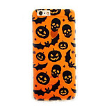 Halloween 01  Shockproof / Embossed / Pattern Skull TPU Soft Case Cover For Apple iPhone 7 7 Plus 6s 6 Plus SE 5s 5
