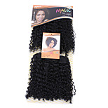 1PC Noble Gold Dora 2 in 1 Synthetic Hair Extension Premium Quality Hair Weave Color 1 10inch